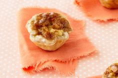 A cross between a cheese Danish and a gooey maple-walnut tart, these tiny treats make a great dessert to serve at your next special occasion. Pie Pastry Recipe, Pastry Recipes, Dessert Recipes, Bread Recipes, Cream Cheese Recipes, Cream Cheese Filling, Cream Pie, Dessert Parfait, Butter Tarts