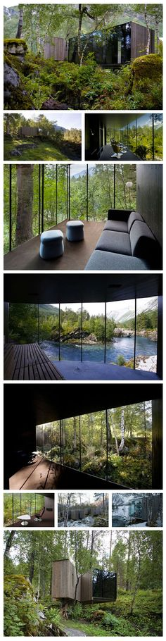 This is a hotel in Norway, go check. How can you not fall in love with this? http://www.juvet.com