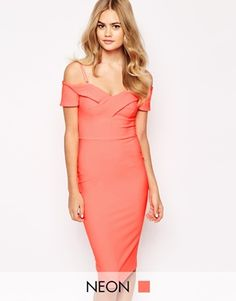 River Island Off The Shoulder Body-Conscious Dress