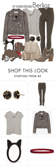 """Berlioz"" by leslieakay ❤ liked on Polyvore featuring Betsey Johnson, Hudson Jeans, rag & bone, Jakke, Forever 21, Disney, Boohoo, Sole Society, disney and disneybound"
