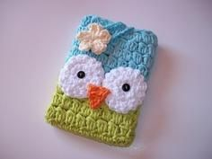 How to DIY Crochet owl Kindle cover