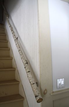 Best Paper Birch Tree Limb Used For Staircase Handrail Home 400 x 300