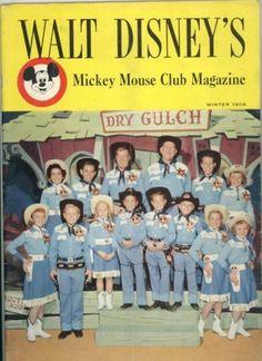 Walt Disney's Mickey Mouse Club Magazine - Winter 1956 - Issue Jim Henson, Original Mickey Mouse Club, Disney Magazine, Club Magazine, Magazine Covers, Walt Disney Mickey Mouse, Disney Land, Vintage Disneyland, Old Tv Shows