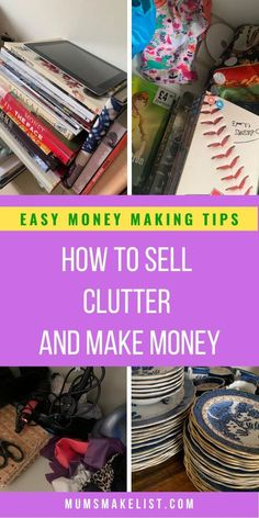 The BIG EASY guide to selling clutter, know what to sell and how to sell it - Polygosn. Garage Sale Organization, Garage Sale Tips, Organisation Hacks, Organizing, Make Money Now, Ways To Earn Money, Make Money From Home, What To Sell, Cricut Tutorials