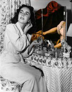 Dada Shojai, Lovelust #liz #taylor #liz taylor #black #white #black and white #b/w #collage #artists on pinterest #art #judith #caravaggio #beheading #blood #red #renaissance #mirror #love #lust #perfume #boudoir #diva