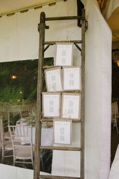 ladder table seating plan wedding http://www.photographybybrideen.com/