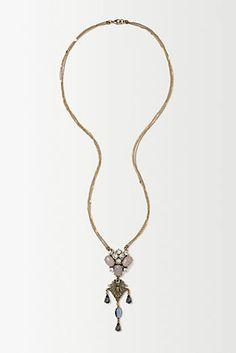 Antique Palette Pendant Necklace