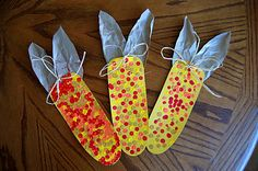 Fall Crafts- corn- use pencil eraser - tripod grasp