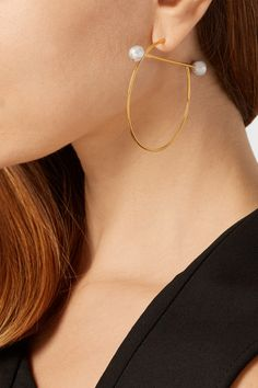 Maria Black | Solar gold and silver-plated hoop earrings | NET-A-PORTER.COM