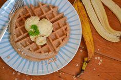 Vegan, Frühstück, Breakfast, Banane, Ananas, Pineapple, Waffeln, Waffle, healthy, gesund, Waffel Vegan, Toddler Snacks, Lunch To Go, Pancakes And Waffles, Vegan Lifestyle, Vegan Desserts, Clean Eating, Healthy Snacks, Low Carb