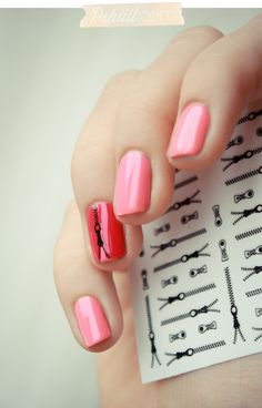 Love the zipper on the accent nail, pic from Pshiiit.com.