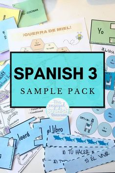 Spanish 3 is a really fun subject to teach for high school teachers because you get to further students' mastery of the Spanish language. To push students' fluency in this foreign language and engage them in the lessons, a variety of activities is often necessary. This Spanish 3 Activity Sample Pack is a bundle of 10 resources created for secondary Spanish classes. There are review games, Spanish grammar practice, Spanish speaking activities, and more. Click through to get more information! Study Spanish, Spanish Lessons, How To Speak Spanish, Spanish 1, Spanish Teacher, Teaching Spanish, Spanish Classroom, Spanish Grammar, Spanish Language
