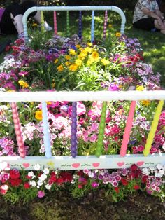 Colorful & creative flower bed