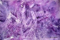 """Amethyst by Bette Orr Watercolor ~ 15"""" x 22"""""""