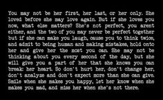 She's yours so take care