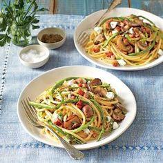 Southern Living =  Bucatini, Ham, and Asparagus | MyRecipes.com