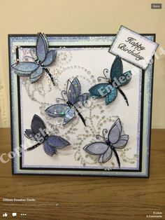 Chloes Creative Cards Greeting Card Holder, Card Tags, Butterfly Cards, Flower Cards, Card Making Inspiration, Making Ideas, Chloes Creative Cards, Stamps By Chloe, Easy Crafts To Make