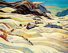 JACKSON, A.Y. (1882-1974) Canadian artist ~ 'Valley of the Gouffre River' 1933