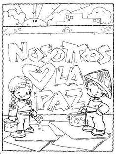 En un rincón de mi aula de Infantil: Día de la PAZ English Activities, Activities For Kids, Coloring For Kids, Coloring Books, Financial Information, Peace, Teaching, Comics, School