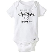 Our Greatest Adventure Begins Baby Onesies, Baby Announcement Onesies, Pregnancy Announcement, Pregnancy Reveal, Baby Bodysuit Third Baby, After Baby, Fantastic Baby, Baby Arrival, Pregnant Mom, First Time Moms, Baby Hacks, Baby Sleep, Baby Baby