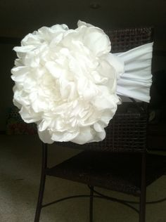 wedding chair cover flower sash by 40winkz on Etsy, $15.00
