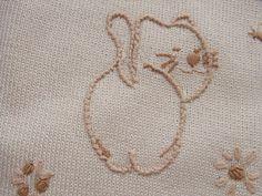 copertina cotone maglia micio felice di mod'o su DaWanda.com