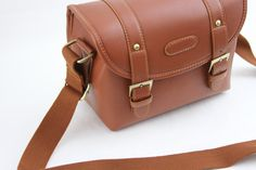 Cosmos Brown Pu Leather Vintage Camera Shoulder Carrying Protection Bag 63