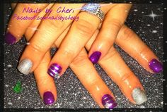 Purple and silver sparkle on acrylic by Cheri