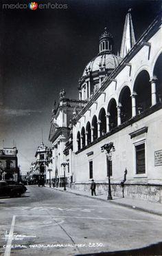 Fotos de Guadalajara, Jalisco, México: CATEDRAL Y PANORAMA Hacia 1945