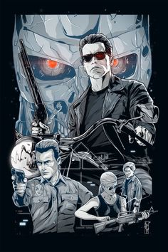 BROTHERTEDD.COM - TERMINATOR 2 poster art Harry Movie Art Terminator Movies, Terminator Tattoo, Movie Synopsis, James Cameron, Pulp, Alternative Movie Posters, Movie Poster Art, Fantasy Movies, Arnold Schwarzenegger