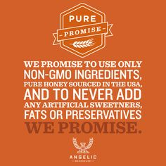 We only make promises that we keep. Delicious and nutritious promises.