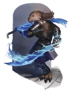 m Dragonborn Fighter Wizard multi-class Hvy Armor Duel Magic Swords Magic Book med Fantasy Character Design, Character Design Inspiration, Character Concept, Character Art, Concept Art, Fantasy Races, Fantasy Warrior, Fantasy Rpg, Fantasy Artwork