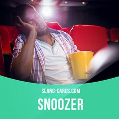 """""""Snoozer"""" means something that is very boring. Example: That movie is such a snoozer. I wouldn't recommend it to anyone. Get our apps for learning English: learzing.com"""