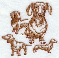 Dachshund Embroidery