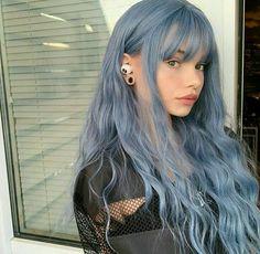 Hair Color Purple, Hair Dye Colors, Cool Hair Color, Blue Hair Streaks, Dyed Hair Blue, Green Hair, Edgy Hair Colors, Hair Colour Ideas, Two Color Hair