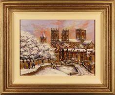 $2,285.00 Snow on York City Walls : Oil : Gordon Lees- Its a beauty