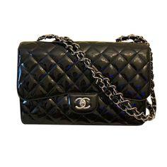 84b1db646 Sacs à main Chanel Jumbo Cuir vernis Noir ref.108850 - Joli Closet Chanel  Jumbo