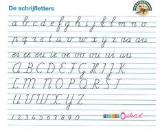 werkbladen om getallen te leren schrijven - als school de methode pennestreken van Zwijsen gebruikt