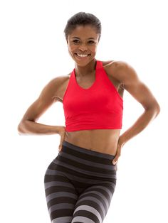 701c3a7e39d60 Crop Top with Shelf Bra in  Solid Cherry  Workout Leggings