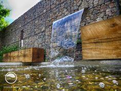 #landcape #architecture #garden #resting #place #bench #water #feature #cascade #path