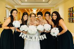 White and Black Bouquets. Omni Orlando Resort at ChampionsGate Lauren & Alex. The Hons Photography. Floral by Lee James Floral Designs.