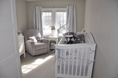 Great neutral color for a baby's room - glad we went with grey and white. Can accent it with pink or blue once we know the gender. Nursery Grey, Neutral Colors, Elephants, Grey And White, Baby Room, Pink Blue, Gender, Home Decor, Bebe