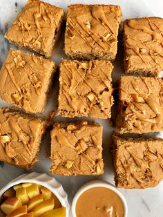 The Best Ever Gluten-free Apple Blondies made with a few simple ingredients for a classic fall apple dessert. No refined sugar or gluten Banana Bread Cookies, Chocolate Chip Banana Bread, Chocolate Chip Cookies, Peanut Butter Bread, Salted Butter, Dupes, Blueberry Cinnamon Rolls, Apple Desserts, Gluten Free Chocolate