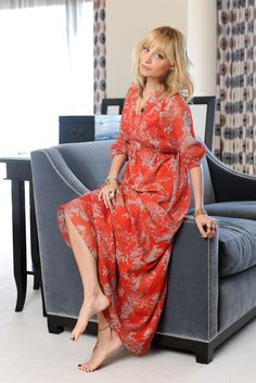 Nicole Richie looking gorgeous on the pages of @Debbie Reagan in a printed maxi dress from her Nicole Richie Collection for QVC
