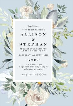 Eucalyptus Charm - Wedding Invitation #invitations #printable #diy #template #wedding Wedding Invitation Templates, Wedding Invitations, Magnolia Wedding, Gift Registry, Chapel Wedding, Response Cards, Confirmation, Create Yourself, Charmed