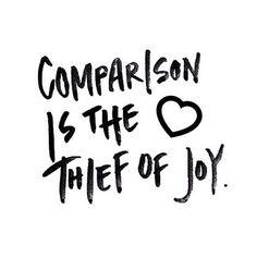 No to Comparison :)