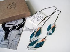Shrink plastic jewellery by Etsy seller Anne Tranholm.
