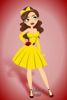 Doll Divine - Dress Up Games. Belle pin-up