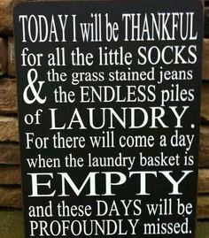 I think this ALL of the time!  Bring on the endless piles of laundry you little people.