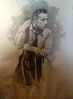 Humphrey Bogart by Jose (Pepe) Gonzalez 1980 Comic Art